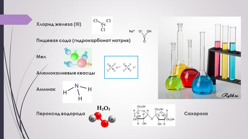 Хлорид железа (III) Пищевая сода (гидрокарбонат натрия)