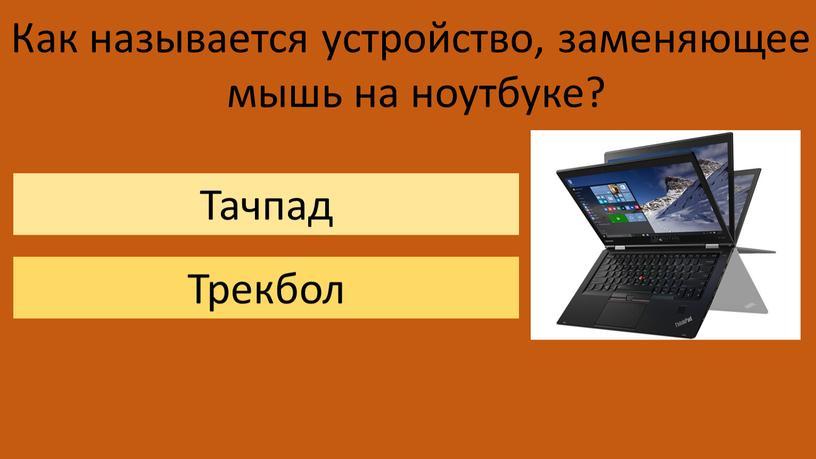 Как называется устройство, заменяющее мышь на ноутбуке?