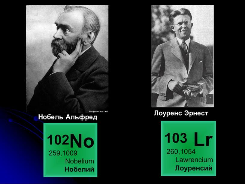 Нобель Альфред Лоуренс Эрнест