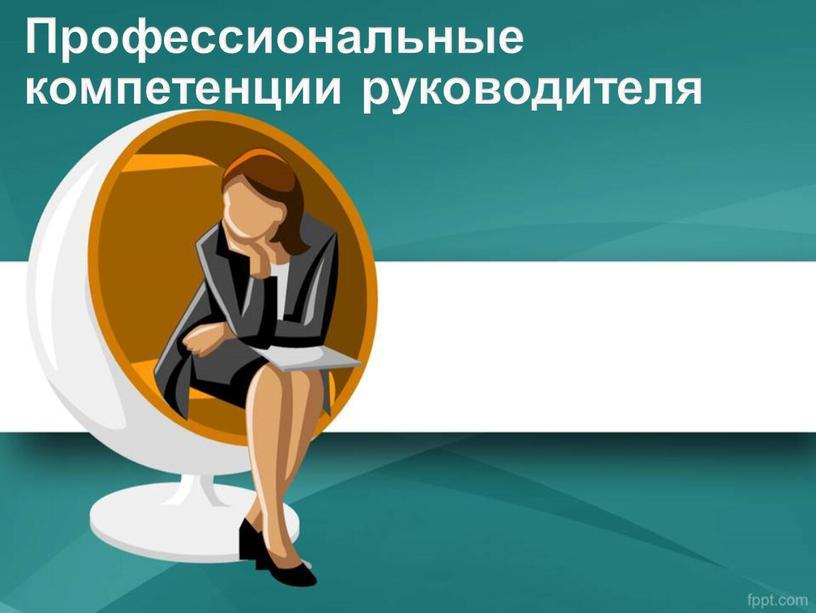 Профессиональные компетенции руководителя