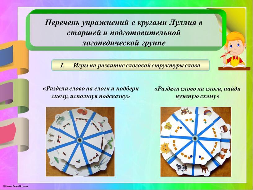 Перечень упражнений с кругами Луллия в старшей и подготовительной логопедической группе