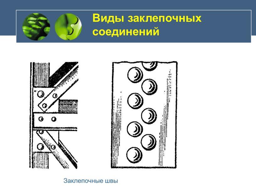 Виды заклепочных соединений Заклепочные швы