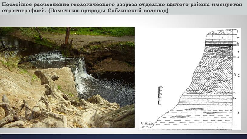 Послойное расчленение геологического разреза отдельно взятого района именуется стратиграфией