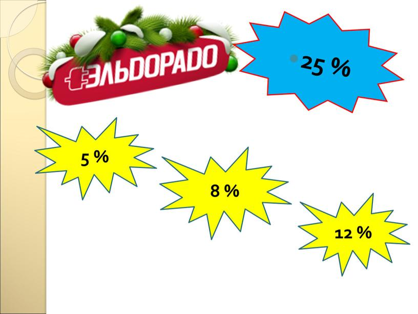 5 % 8 % 12 % 25 %