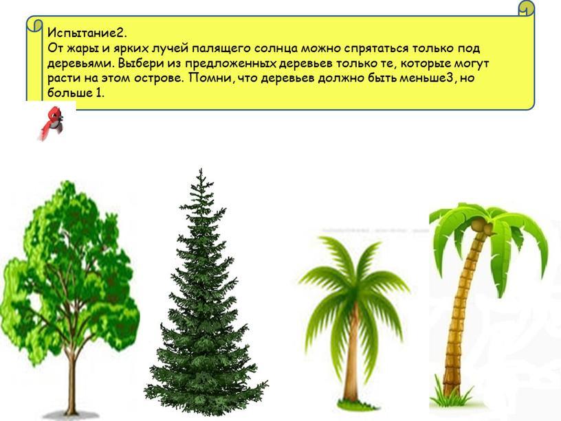 Испытание2. От жары и ярких лучей палящего солнца можно спрятаться только под деревьями