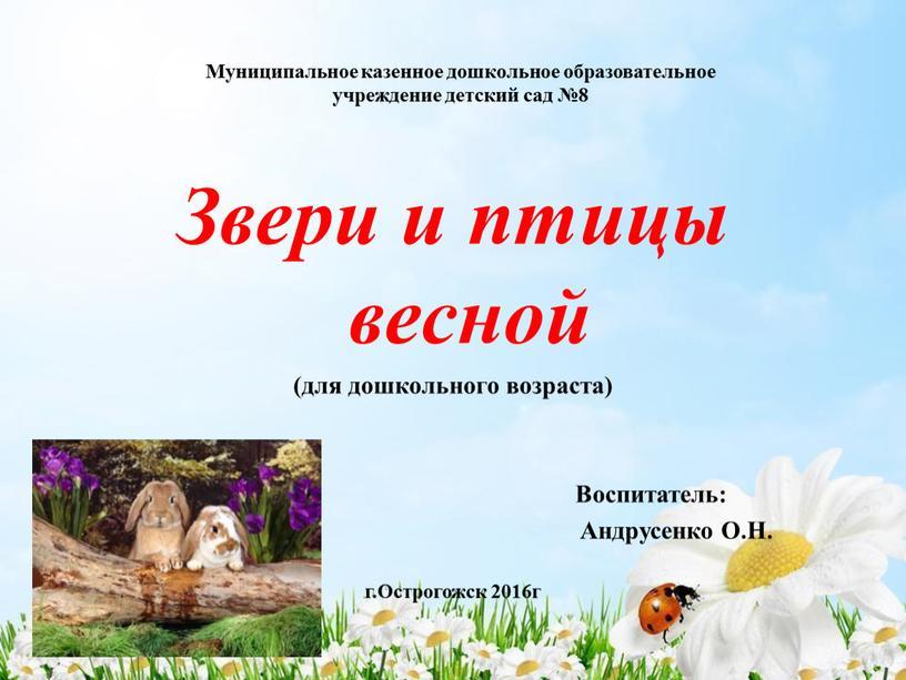 Муниципальное казенное дошкольное образовательное учреждение детский сад №8