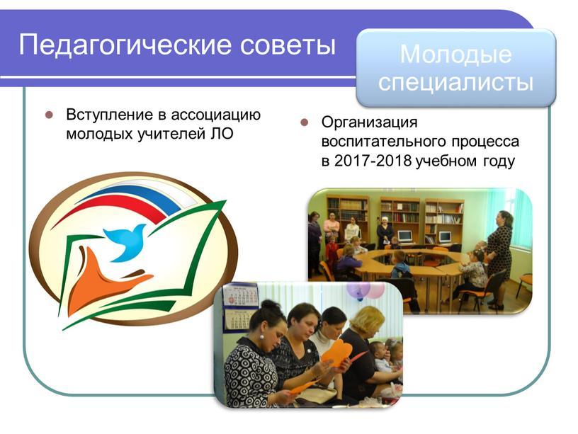 Педагогические советы Вступление в ассоциацию молодых учителей