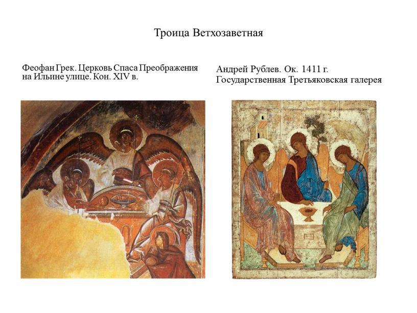 Троица Ветхозаветная Феофан Грек