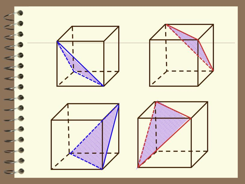 """Материал к уроку  геометрии в 10 классе """"Сечения тетраэдра и параллелепипеда плоскостью"""""""