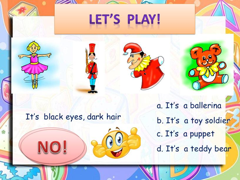 Let's play! It's black eyes, dark hair a