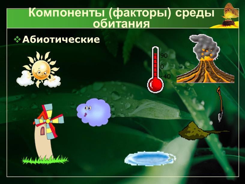 Компоненты (факторы) среды обитания