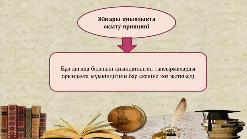 Жоғары қиындықта оқыту принципі