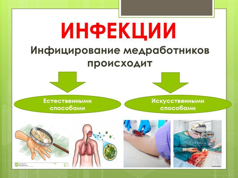 ИНФЕКЦИИ Инфицирование медработников происходит