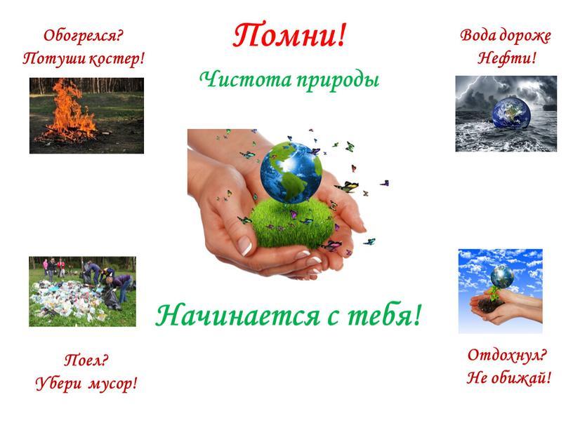 Чистота природы Начинается с тебя!