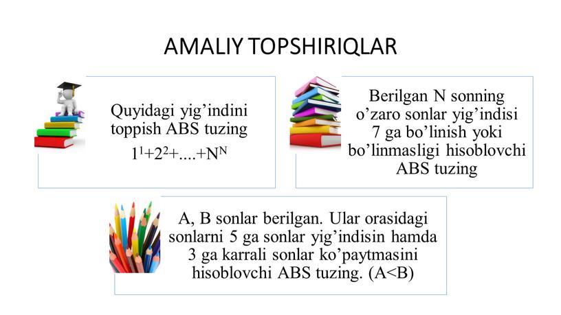 AMALIY TOPSHIRIQLAR