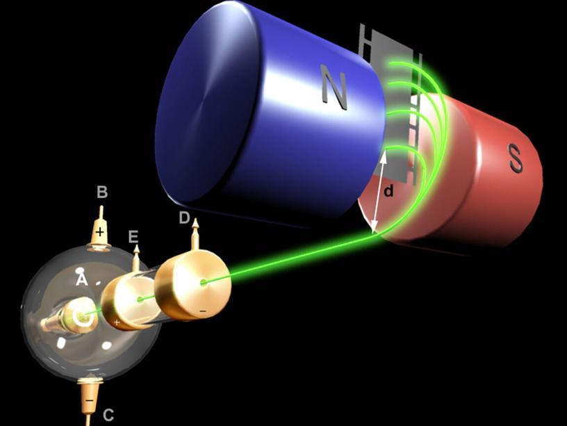 Масс – спектрометр. Траектории частиц представляют собой окружности радиусов
