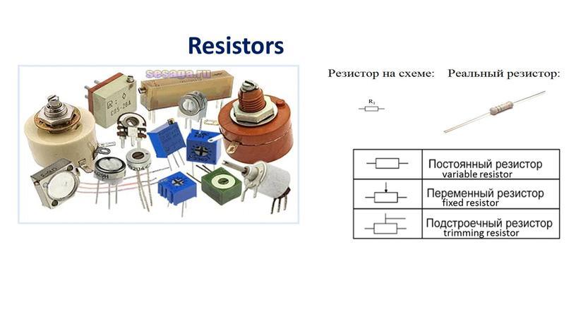Resistors variable resistor fixed resistor trimming resistor