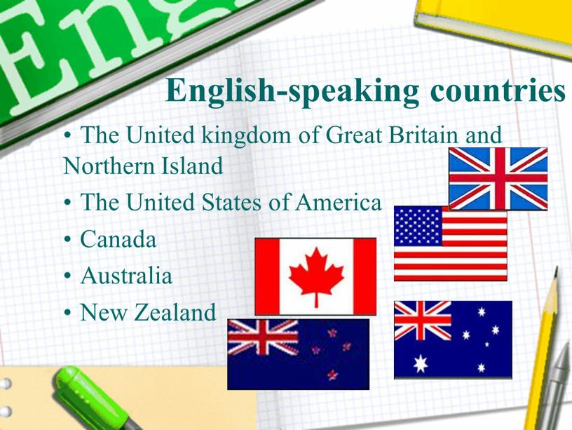 English-speaking countries The