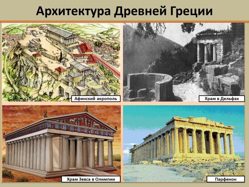 Архитектура Древней Греции Афинский акрополь