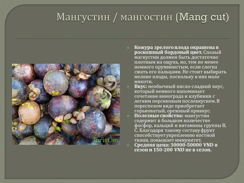 Мангустин / мангостин (Mang cut)