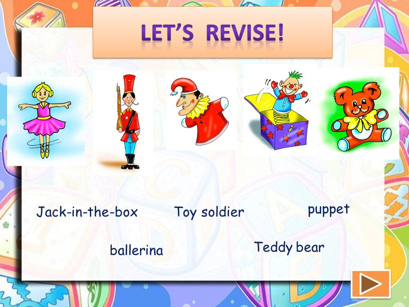 Let's revise! ballerina Toy soldier puppet