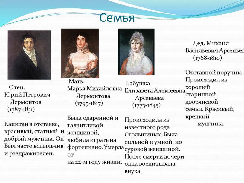 Семья Отец. Юрий Петрович