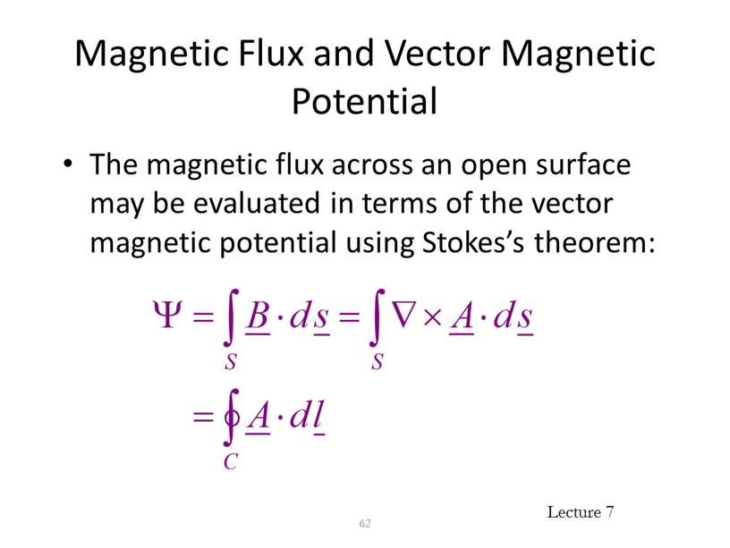 Magnetic Flux and Vector Magnetic