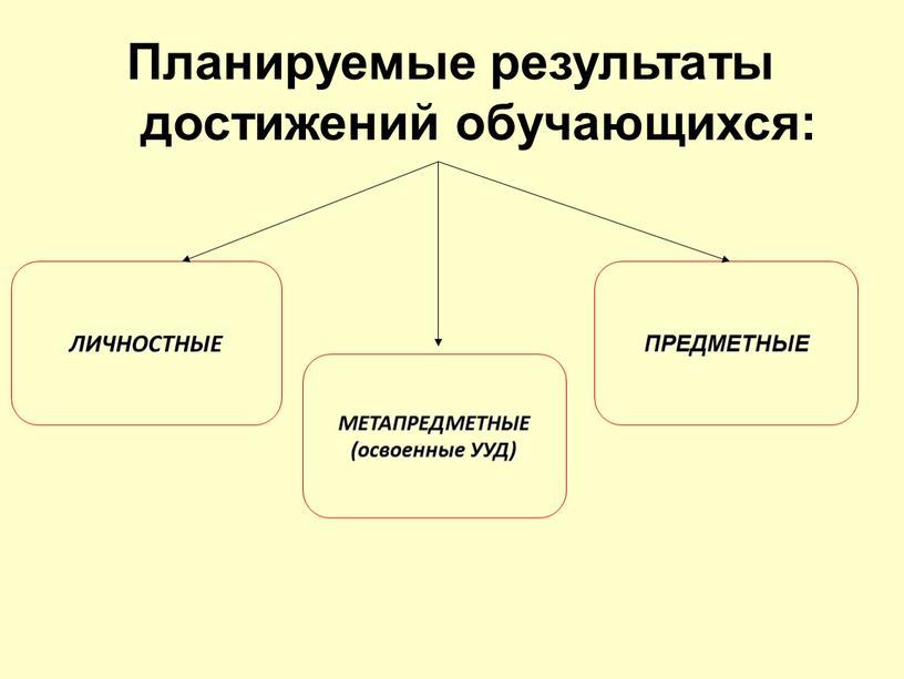 Планируемые результаты достижений обучающихся: