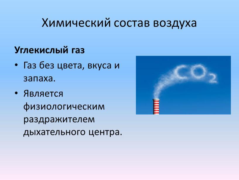 Химический состав воздуха Углекислый газ