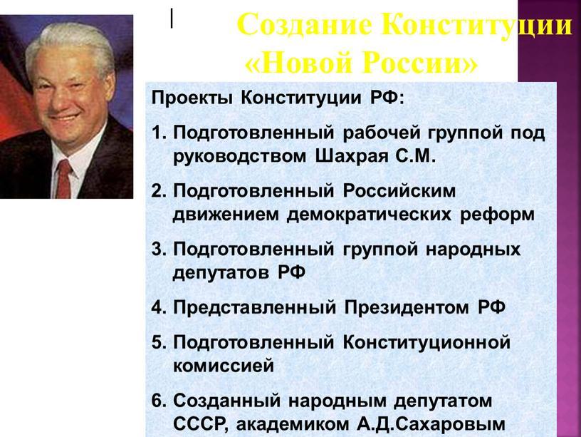 Проекты Конституции РФ: Подготовленный рабочей группой под руководством