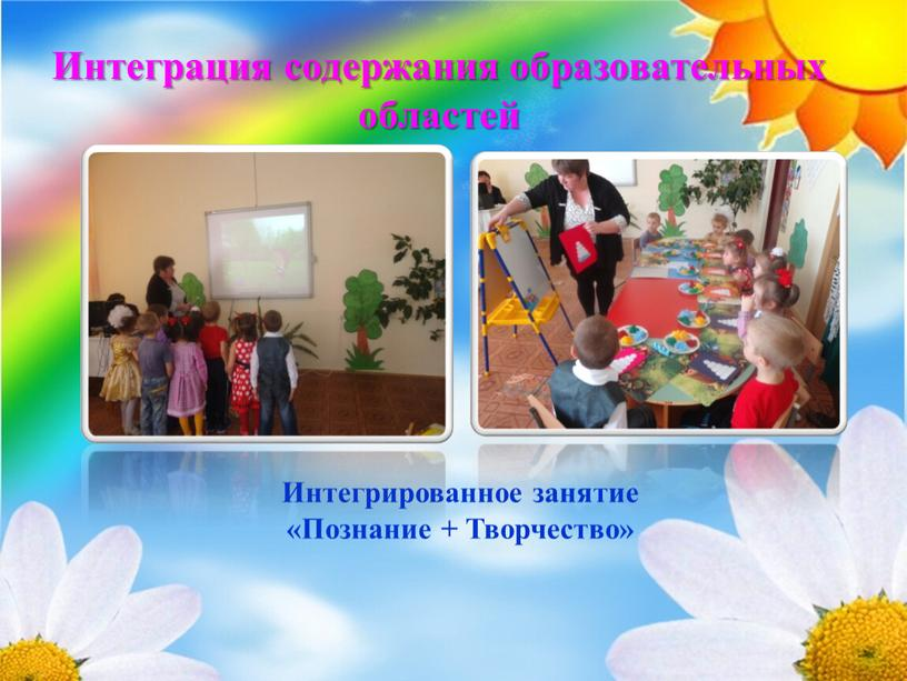 Интеграция содержания образовательных областей