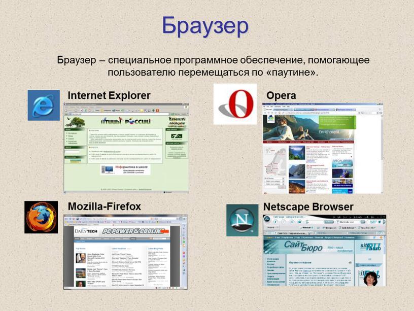 Браузер Internet Explorer Opera