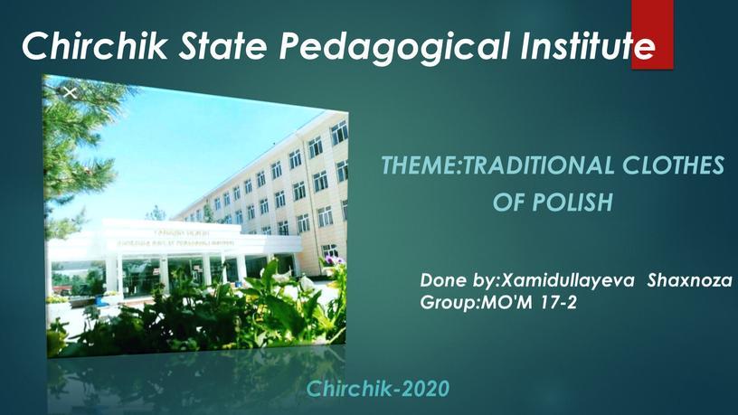 Chirchik State Pedagogical Institute