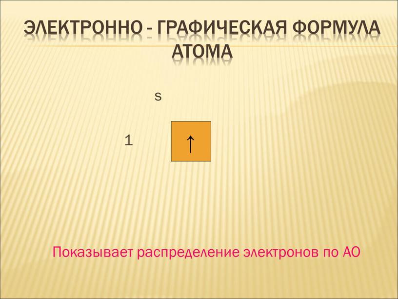 ЭЛЕКТРОННО - ГРАФИЧЕСКАЯ ФОРМУЛА