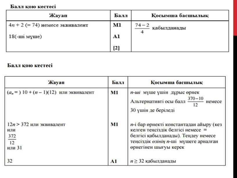 3-4 сабак_9 кл_Арифметикалық прогрессия