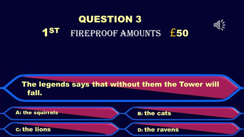 QUESTION 3 1ST FIREPROOF