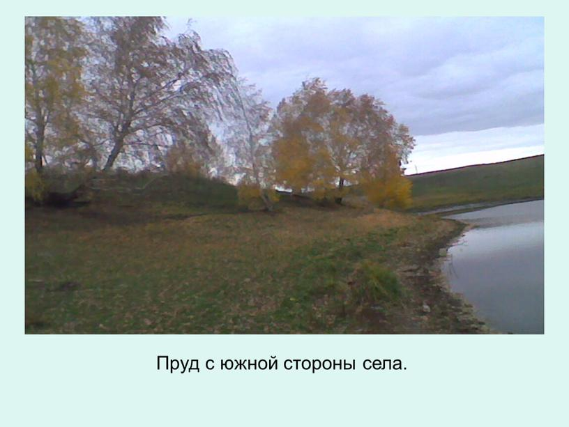 Пруд с южной стороны села.