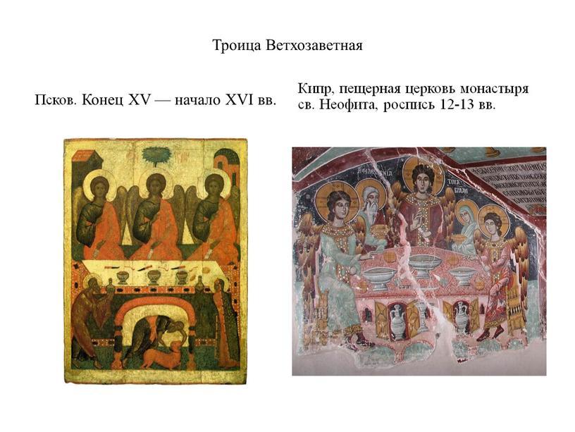 Троица Ветхозаветная Псков. Конец