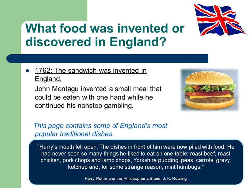 What food was invented or discovered in