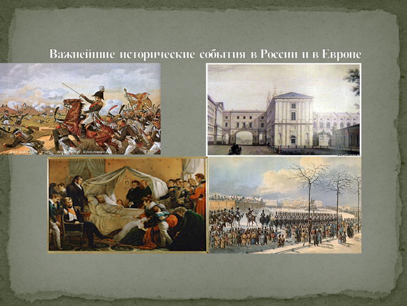 Важнейшие исторические события в