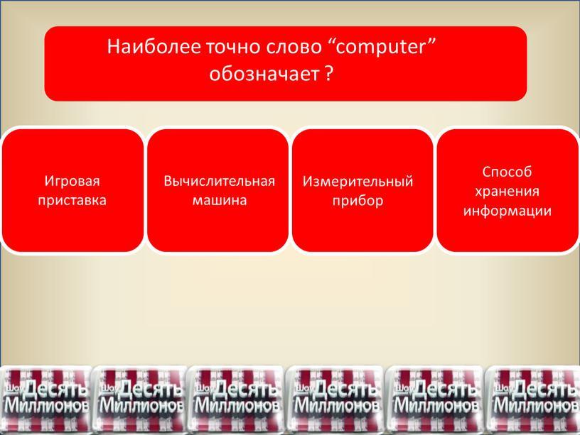 Игровая приставка Вычислительная машина