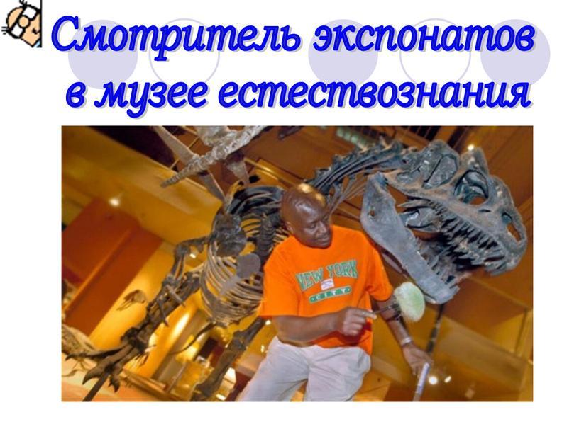 Смотритель экспонатов в музее естествознания