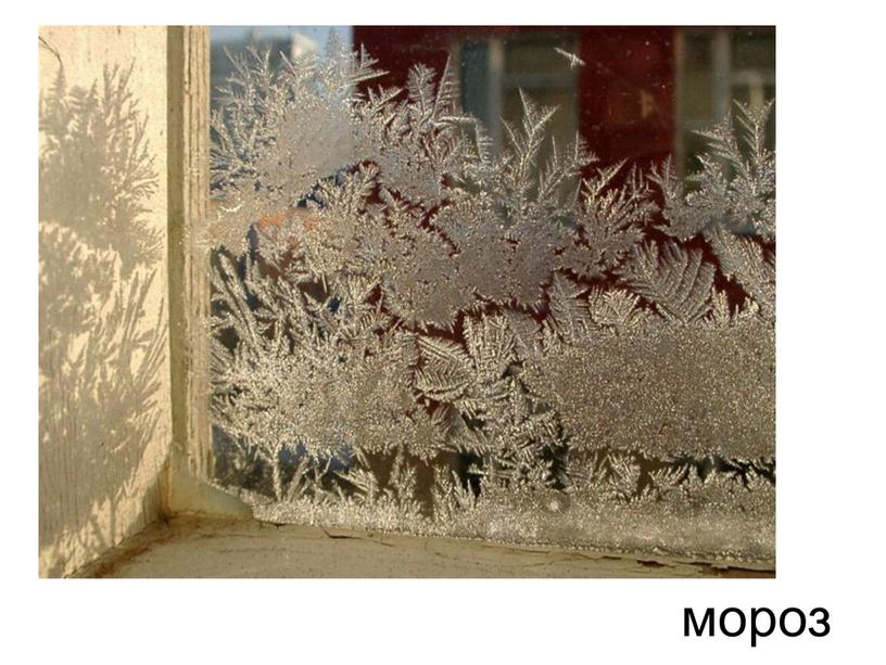 Разукрасил чародей Окна все в домах людей