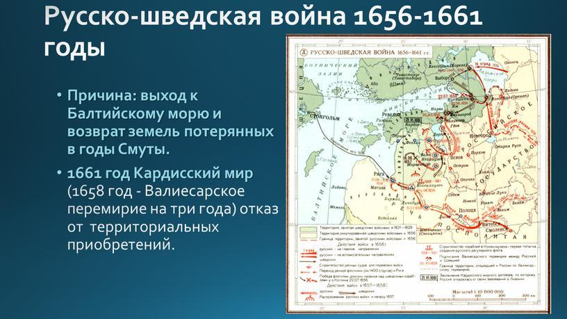 Русско-шведская война 1656-1661 годы