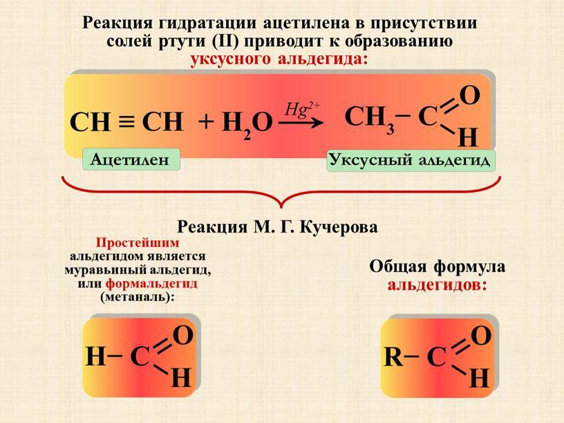 Уксусный альдегид Ацетилен Реакция