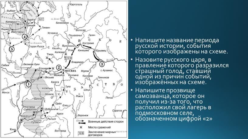 Напишите название периода русской истории, события которого изображены на схеме