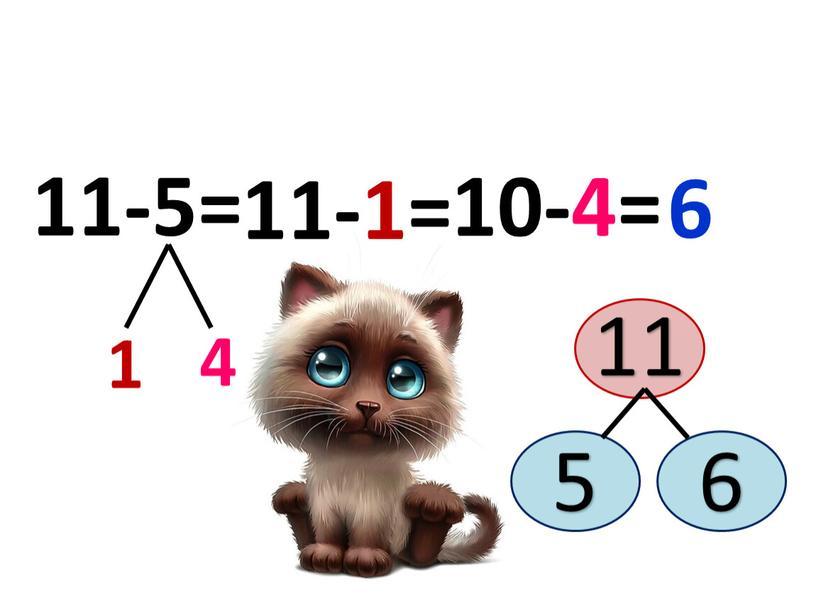 4 1 11-5= 10-4= 11-1= 6 11 5 6