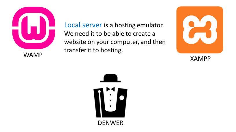 Local server is a hosting emulator