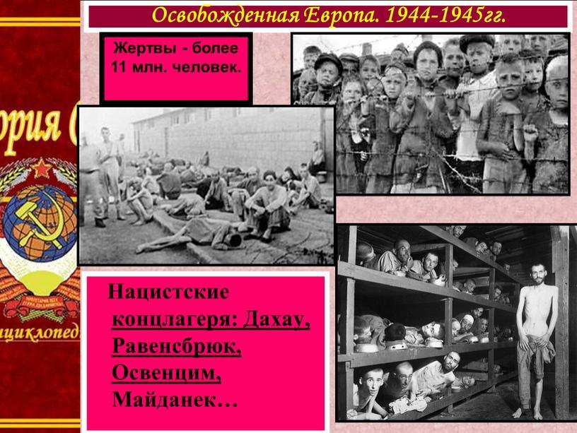 Нацистские концлагеря: Дахау, Равенсбрюк,