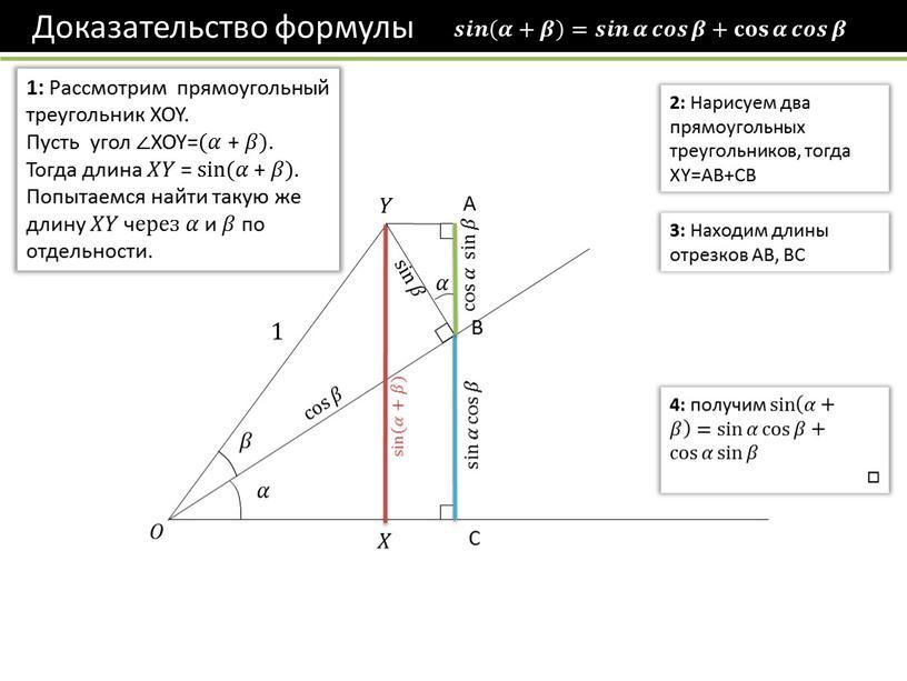 Рассмотрим прямоугольный треугольник